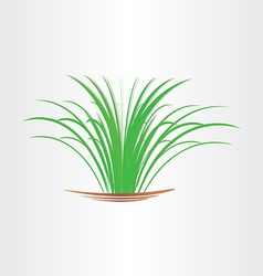 green grass abstract design element vector image