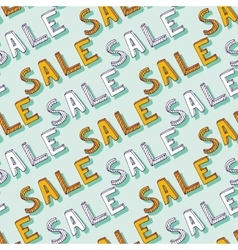 hand drawn Sale pattern Doodle discount vector image vector image