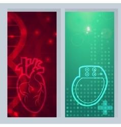 Heart pacemaker banner vector