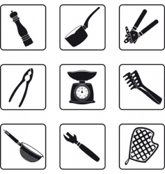 kitchen supplies vector image vector image