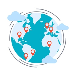 Logistics delivery transportation concept vector image vector image
