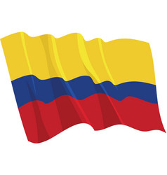 Political waving flag of colombia vector