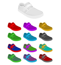Sneakers set template vector image vector image