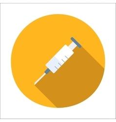 Syringe flat icon vector image vector image