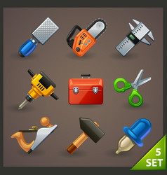 tools icon set-5 vector image