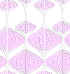 White colored paper pink chinese lanterns vector