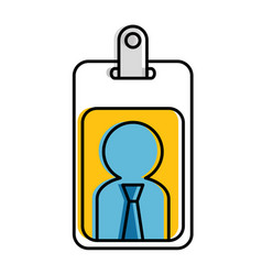 worker badge isolated icon vector image