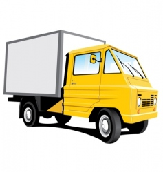 yellow delivery truck vector image