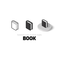 Book icon in different style vector image