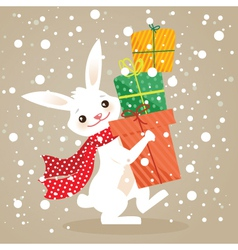 Bunny christmas vector