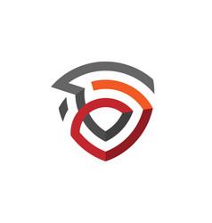 Creative abstract shield logo vector