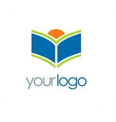 Open book knowledge logo vector