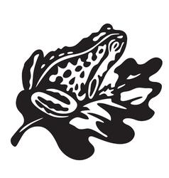 Black frog vector