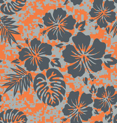 Orange grey aloha vector