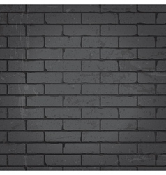 Brick wall dark gray background vector