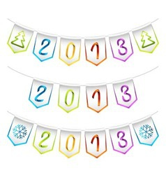 2013 design bunting flags vector