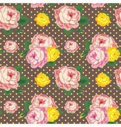 Shabby Chic seamless pattern vintage roses vector image