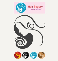 Beauty hair vector