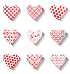 Heart icons set for valentines vector