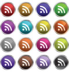 RSS symbols vector image