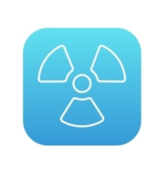 Ionizing radiation sign line icon vector
