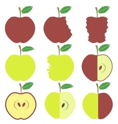 Set of apple icons vector