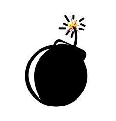 Bomb pop art vector