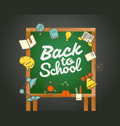 Back to school greeting card back to school vector