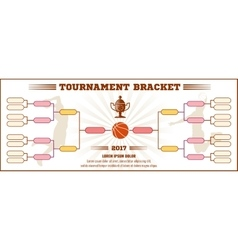 Basketball tournament bracket mockup vector