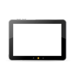 Black tablet pc on white background vector image vector image