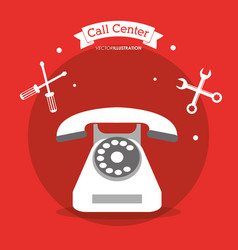 Call center telephone contacts tools vector