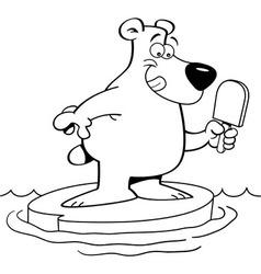 Cartoon of a polar bear vector image vector image