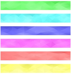 Colored banner background set vector