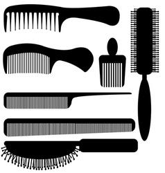 Comb silhouette vector