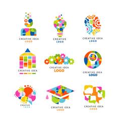 Creative idea logo design template abstract vector