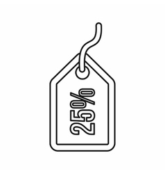 Discount tag icon outline style vector