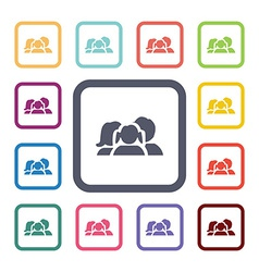 family flat icons set vector image vector image