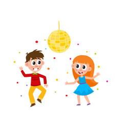 flat boy and girl dancing at party vector image vector image