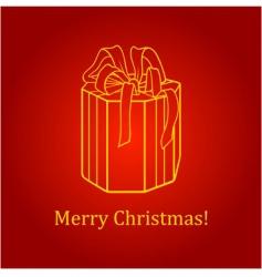 gift box card vector image vector image
