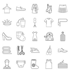 Gift icons set outline style vector