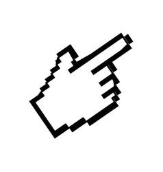 hand cursor click vector image vector image