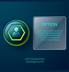 Hexagon contact pictogram background vector