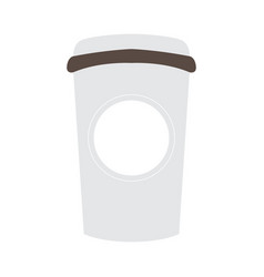 Isolated coffee plastic cup vector