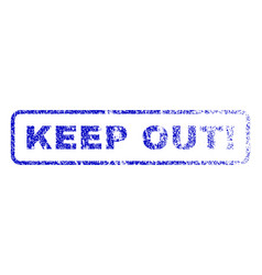 Keep out exclamation rubber stamp vector