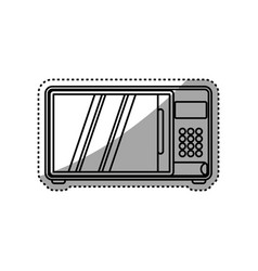 Microwave household appliance vector