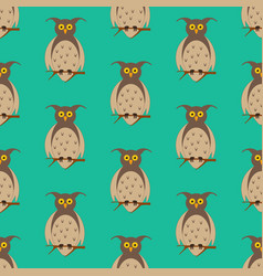 Owl on the branch pattern vector
