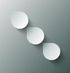 Paper Cut Water - Rain Drops vector image vector image