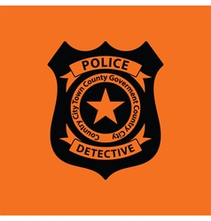 Police badge icon vector