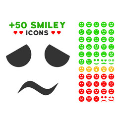 sad worried smile icon with bonus smile clipart vector image vector image