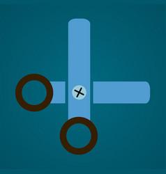 scissors stationery flat vector image